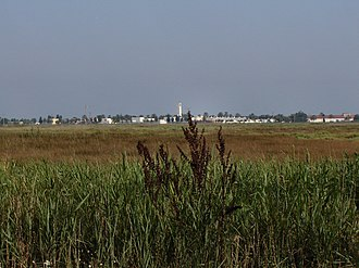 Instituto Nacional de Colonización - El Poble Nou Del Delta, a village built after drying wetlands of the Ebro river delta.
