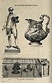 Electro-plating; three-quarter views of a statue, a wine-jug Wellcome V0024598.jpg