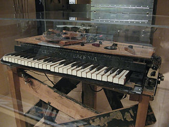 Electronic sackbut - Electronic sackbut exhibited in the Canada Science and Technology Museum