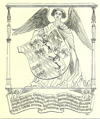 Elizabeth of Görlitz - Depiction on the tomb of Elisabeth von Görlitz, Duchess of Luxembourg, in Trier (Germany)