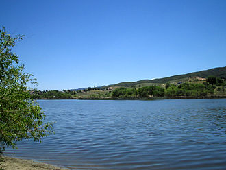 Sag pond - Elizabeth Lake is one of numerous sag ponds along the San Andreas Fault.
