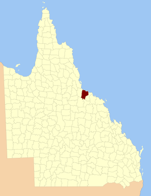 County of Elphinstone - Location within Queensland