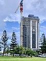 Elysian apartment building under construction in February 2020, Broadbeach, Queensland.jpg