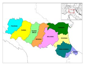 Emilia-Romagna Provinces