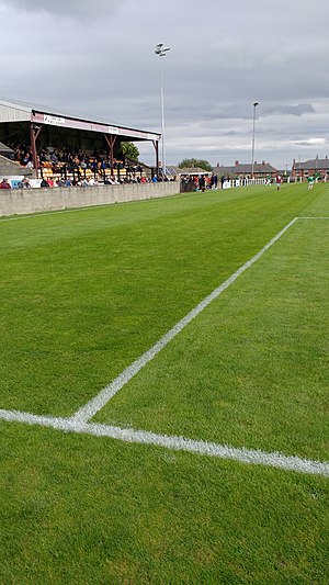 A.F.C. Emley - The seated stand at AFC Emley