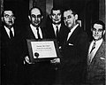 Employer's Merit Award, presented to HAPCo by Mayor Resnic, Fall 1959.jpg