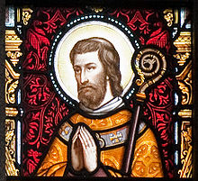 Enniscorthy St. Aidan's Cathedral East Aisle Fifth Window Saint Aidan Detail 2009 09 28.jpg