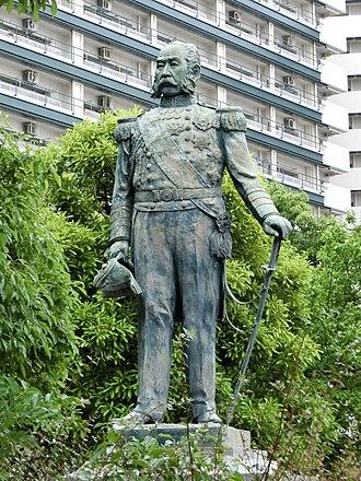 Enomoto Takeaki - A statue of Enomoto Takeaki in Tokyo.