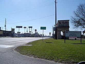 Fort Bend County, Texas - Farm to Market Road 1092, a major entry into the county