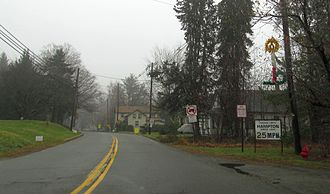 Hampton, New Jersey - Entering Hampton along County Route 635