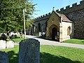 Entrance porch St. Mary's Church Baldock - geograph.org.uk - 2532874.jpg