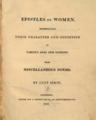 Epistles on Women, by Lucy Aikin (1810, London).png