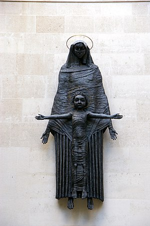 Louis Osman - Epstein statue of Madonna and Child at nos. 11-14 Cavendish Square, London, restored by Osman