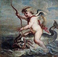 Cupid on a dolphin
