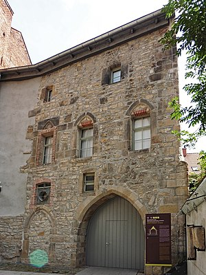 Old Synagogue (Erfurt) - Entrance to the Old Synagogue building from the museum inner courtyard, North-West façade