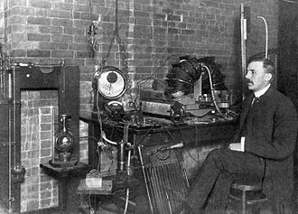 Otto Hahn - Ernest Rutherford at McGill University, Montreal 1905