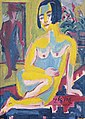 Ernst Ludwig Kirchner - Desnudo femenino sentado. Estudio (reverso).jpg