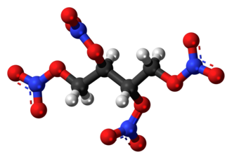 Erythritol tetranitrate - Image: Erythritol tetranitrate 3D ball
