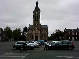 The church square in Escautpont