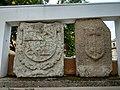 Escudos na praça do concelho de Neda (2).jpg
