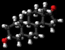 Pilk-kaj-bastona modelo de la etiokolanolonmolekulo