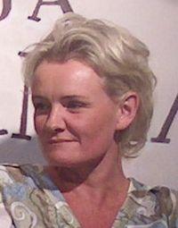 Eva Dahlgren på bokmässan i Helsingfors 2004