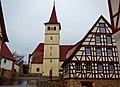 Evangelische Pfarrkirche St. Blasius in Altdorf, Kirchturm 1440, 1617, Glocke 1458, Chor und Sakristei ab 1498 durch Steinmetz Hans von Bebenhausen errichtet. - panoramio.jpg