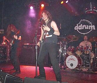 Evile - Evile supporting Megadeth in Madrid, 2008