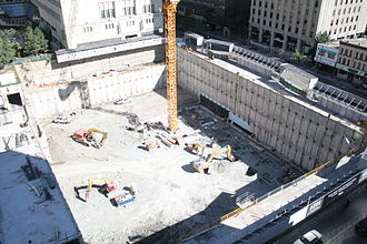 Aura (Toronto) - The excavated site in September 2010