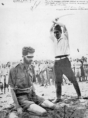 M Special Unit - The iconic photograph of the execution of Sergeant Leonard Siffleet of M Special Unit, after he was taken prisoner in 1943.