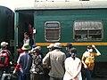 Exiting VNR TN17 rail car.JPG