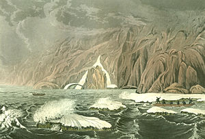 George Back - Image: Expedition Doubling Cape Barrow, July 25, 1821