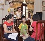 Eye screening for kindergarten children in Quoc Oai district of Hanoi (14331043983).jpg