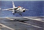 F-8E Crusader of VF-194 landing on USS Bon Homme Richard (CVA-31) in 1965.jpg