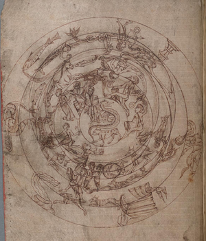 Planisphere - Medieval planisphere,c.1000. NLW MS 735C