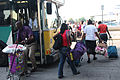 FEMA - 37716 - Residents leave buses at the train station to evacuate New Orleans.jpg