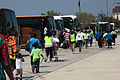 FEMA - 38025 - Buses to take evacuees back to New Orleans, Louisiana.jpg