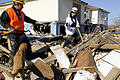 FEMA - 39652 - Teams sweeping debris fields in Bolivar, Texas use specially trained dog.jpg