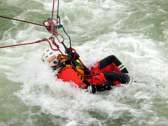 Swift water rescue - Swiftwater rescue exercise
