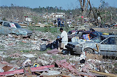Damage from the F5 Birmingham, Alabama tornado
