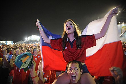 Chile national football team supporters at Rio de Janeiro Fan Fest, 2014 FIFA Fan Fest Rio de Janeiro 05.jpg