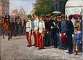 FRIEDBERG Salomon Emanuel – vojenská paráda v Praze (1900).jpg