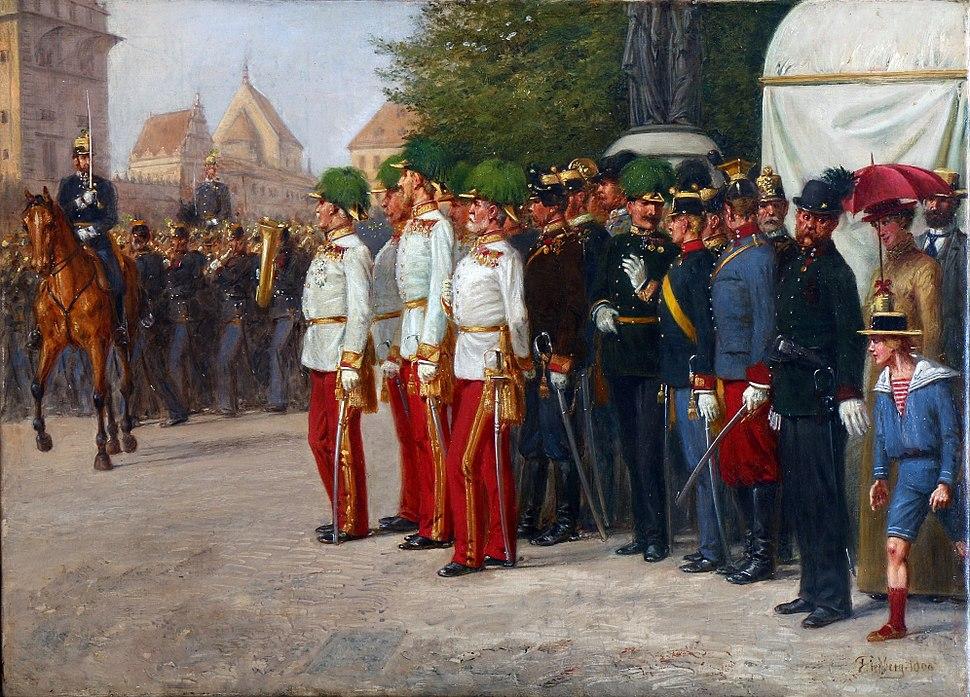 FRIEDBERG Salomon Emanuel %E2%80%93 vojensk%C3%A1 par%C3%A1da v Praze (1900)