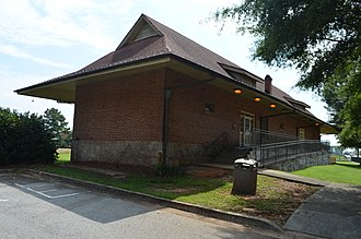 Atlanta and West Point Railroad - The preserved Fairburn station building in 2014