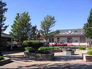 Suisun–Fairfield station - Entrance plaza, November 3, 2012