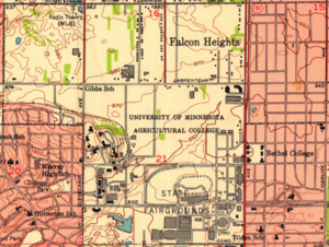 Falcon Heights, Minnesota - 1951 map of Falcon Heights