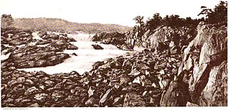 Great Falls (Potomac River) - The falls in about 1897