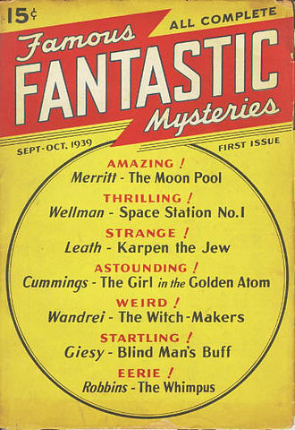 Famous Fantastic Mysteries - The cover of the first issue, dated September/October 1939
