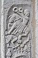 Fardhems kyrka detalj portalen ryttare rider över fiende Gotland.jpg