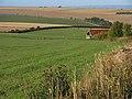 Farmland and barn above West Ilsley - geograph.org.uk - 1558711.jpg